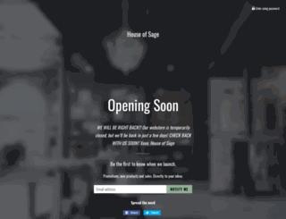 houseofsage.com screenshot
