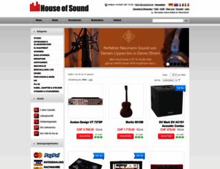 houseofsound.ch screenshot