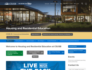 housing.csusb.edu screenshot