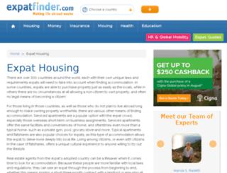 housing.expatfinder.com screenshot