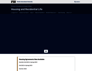 housing.fiu.edu screenshot