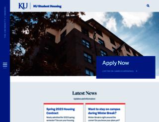 housing.ku.edu screenshot