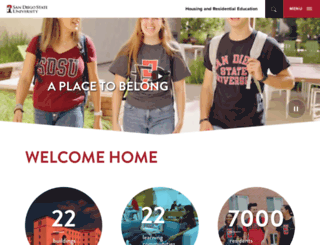housing.sdsu.edu screenshot