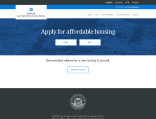 housing.sfgov.org screenshot