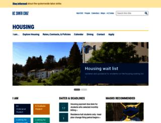 housing.ucsc.edu screenshot