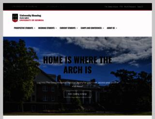 housing.uga.edu screenshot