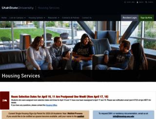 housing.usu.edu screenshot
