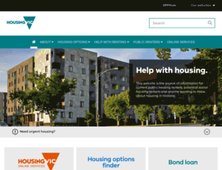 housing.vic.gov.au screenshot