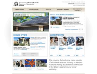 housing.wa.gov.au screenshot