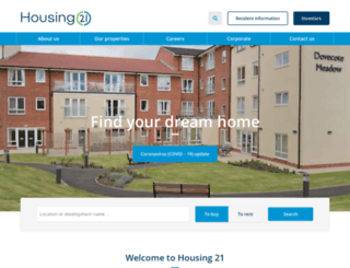 housing21.co.uk screenshot