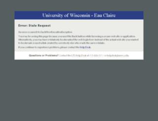 housingapp.uwec.edu screenshot