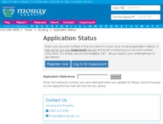 housinglist.moray.gov.uk screenshot