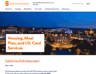 housingmealplans.syr.edu screenshot