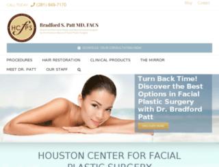 houstonfacialplasticsurgery.com screenshot