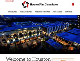 houstonfilmcommission.com screenshot