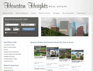 houstonheights-realestate.com screenshot