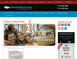 houstonmattress.net screenshot