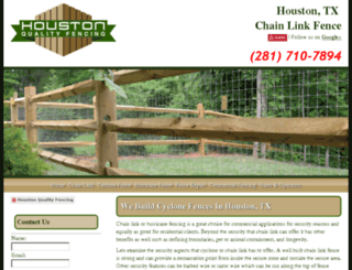 houstonqualityfencing.com screenshot