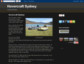 hovercraft-sydney.com screenshot