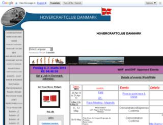hovercraftclub.dk screenshot
