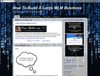 how-to-build-a-large-mlm-business.blogspot.com screenshot