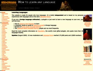 how-to-learn-any-language.com screenshot