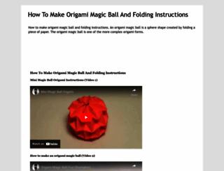 how-to-make-origami-magic-ball.blogspot.com screenshot