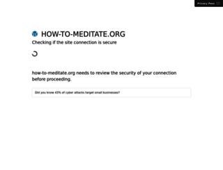 how-to-meditate.org screenshot