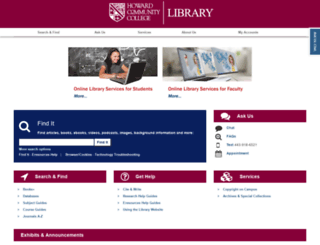 howardcc.libguides.com screenshot