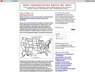 howconservativesdrovemeaway.blogspot.com screenshot