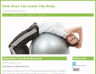 howdoesfatleavethebody.com screenshot