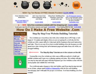 howdoimakeafreewebsite.com screenshot
