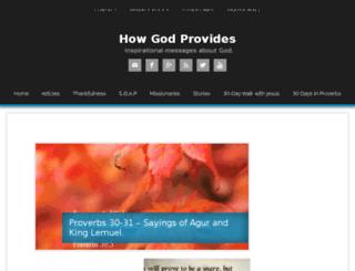 howgodprovides.com screenshot