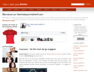 howimetyourmotherfr.com screenshot