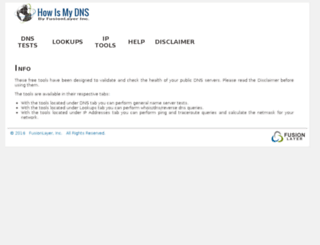 howismydns.com screenshot
