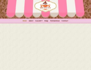 howsweetbakery.com screenshot