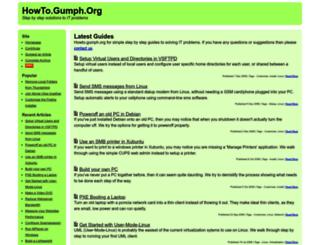howto.gumph.org screenshot