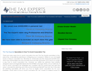 howtoavoidcorporationtax.co.uk screenshot