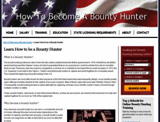 howtobecomeabountyhunter.com screenshot
