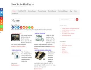 howtobehealthy10.com screenshot
