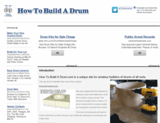 howtobuildadrum.com screenshot