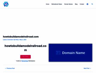 howtobuildamodelrailroad.com screenshot