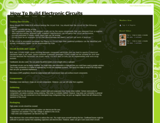 howtobuildelectroniccircuits.webs.com screenshot