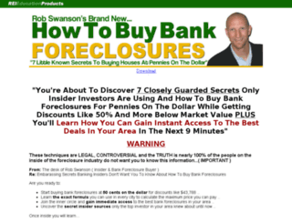 howtobuybankforeclosures.com screenshot