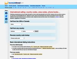 howtocallabroad.com screenshot