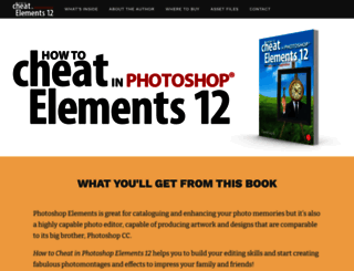 howtocheatinphotoshopelements.com screenshot