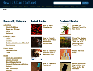 howtocleanstuff.net screenshot
