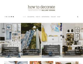 howtodecorate.com screenshot