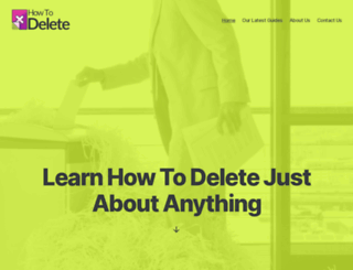 howtodelete.co screenshot