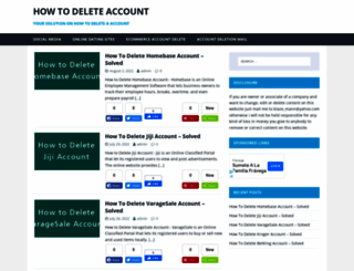 howtodeleteaccount.net screenshot